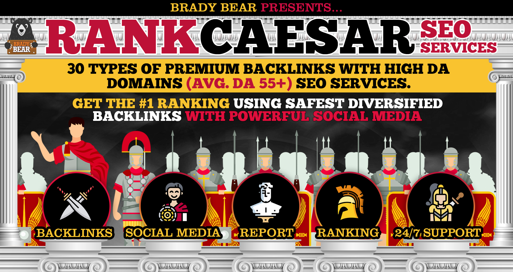 RANK CAESAR 2.0 - Bulletproof GOOGLE PAGE 1 RANKING 2020 Strategy - 200+ Links- Premium SEO Service