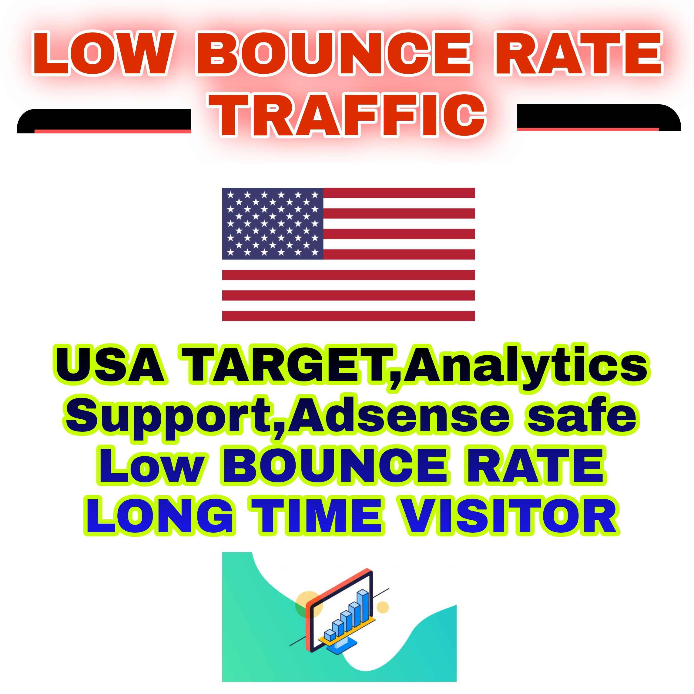 1000 Real & High Quality Usa Target Web Traffic - Adsense Safe,analytic Support