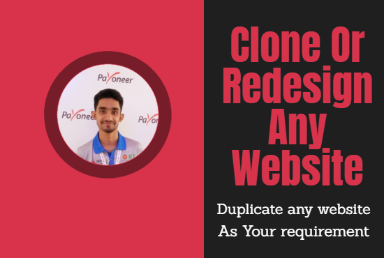 Build, Customize, Clone Or Redesign Any Website