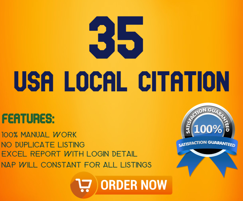 35 live USA local Citation Local SEO