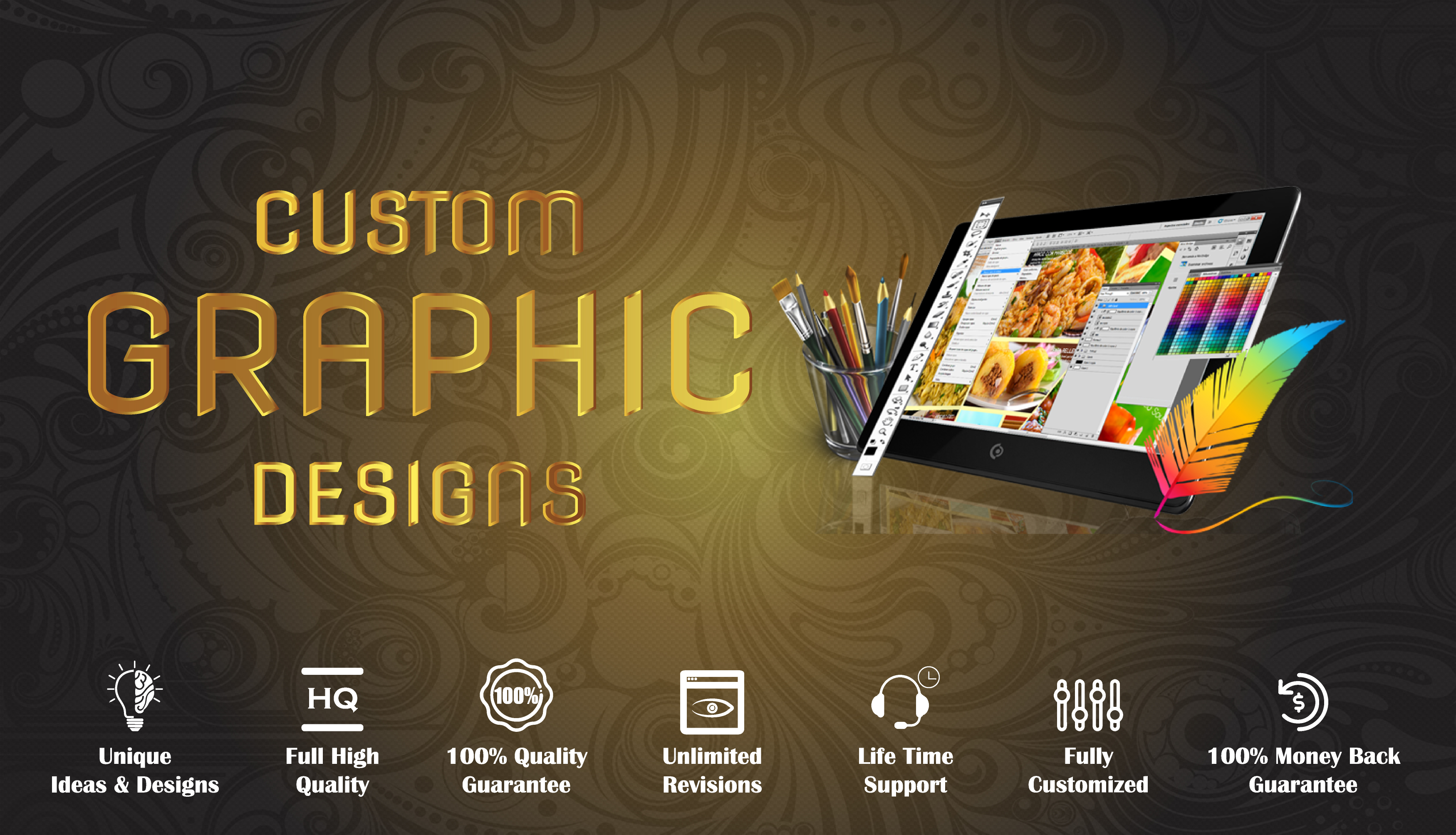 I'll Design Custom Graphic Designs
