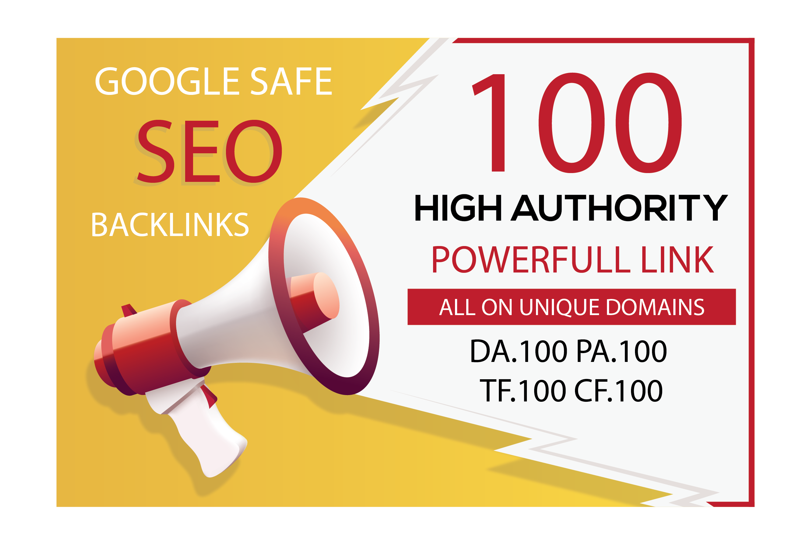 I will Do 100 UNIQUE PR10 SEO BackIinks On DA100