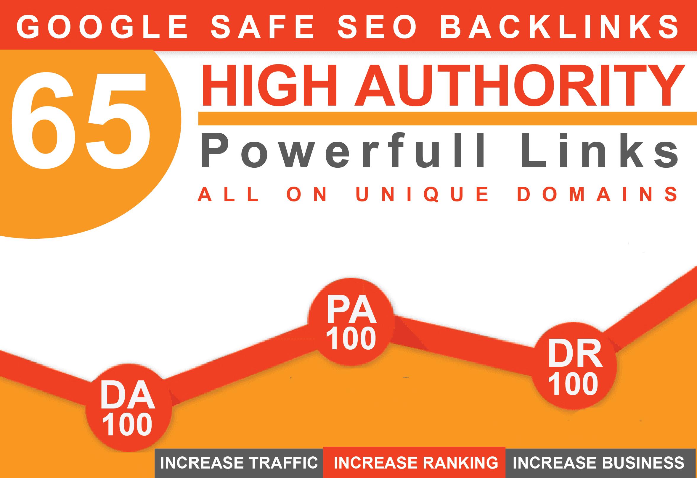 I will do 65 unique pr10 backlinks on DA100 PA100 sites