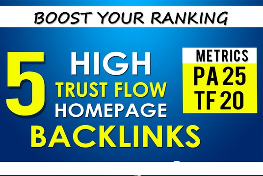 I will Build 5 High Trust Flow Home Page PBN Backlinks
