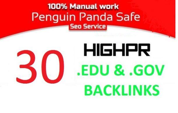 I will provide 30 edu & gov blog comment backlinks