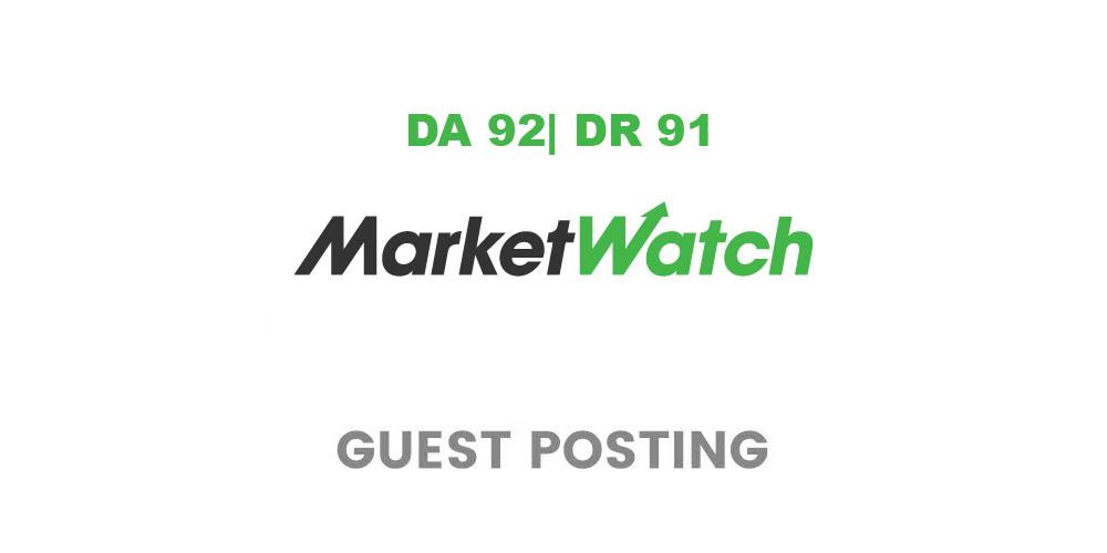 Guest post On MarketWatch,  MarketWatch. com - DA 95
