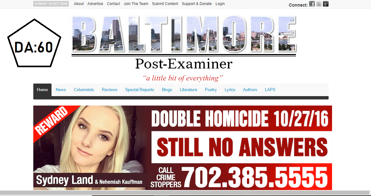 Top News Guest Post on baltimorepostexaminer. com DA66