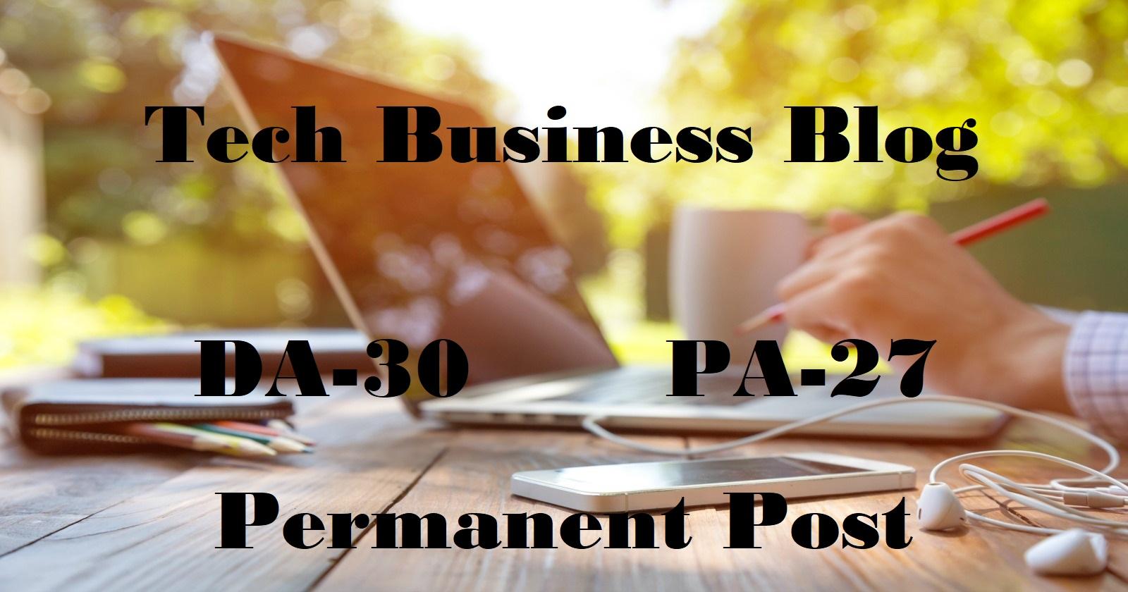 Guest Post on DA30+ Tech Business Social Media Blog