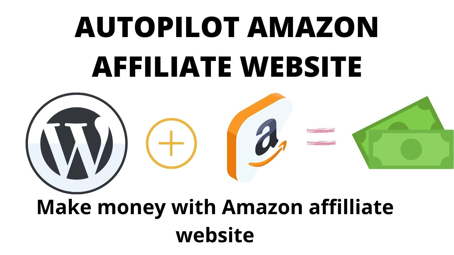 I will create autopilot amazon affiliate website for you