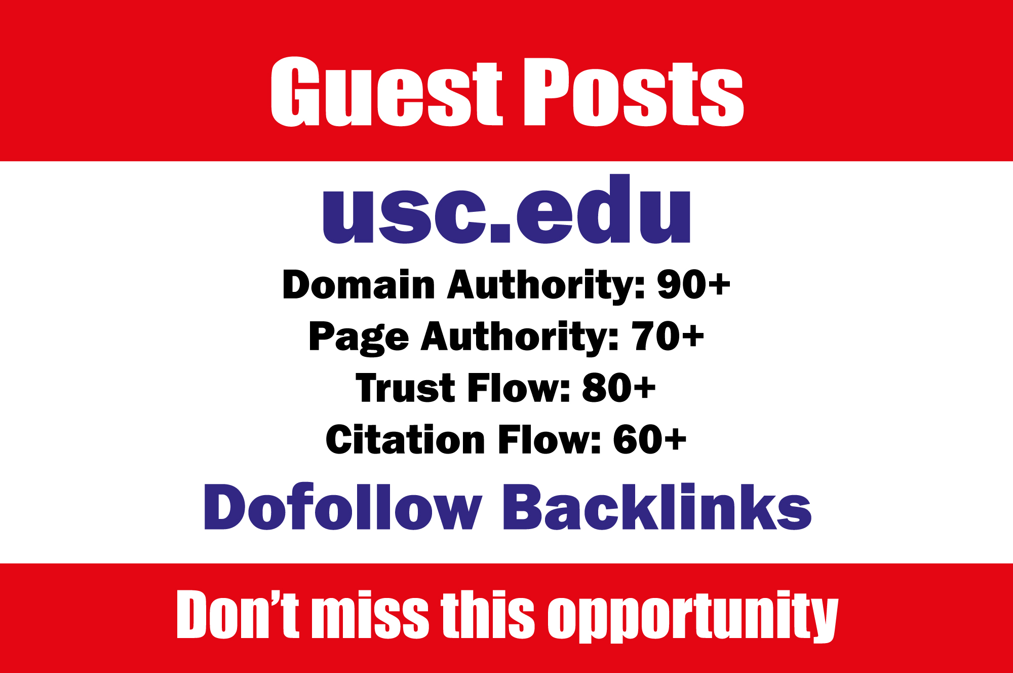 Guest Post On University of Southern California - usc. edu DA91 with do f0llow
