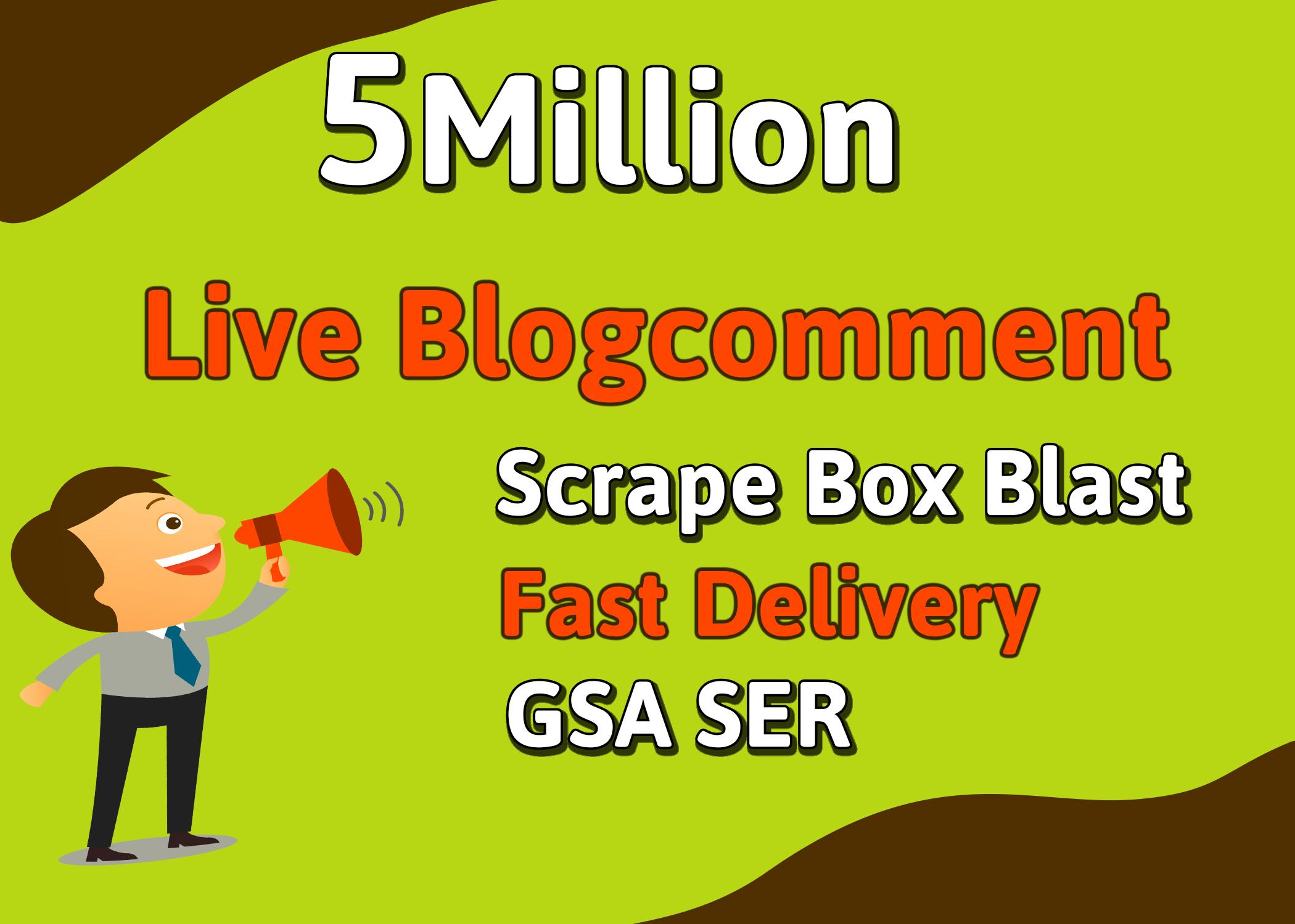 Create blast scrapebox 500,000 SEO blog comment backlinks