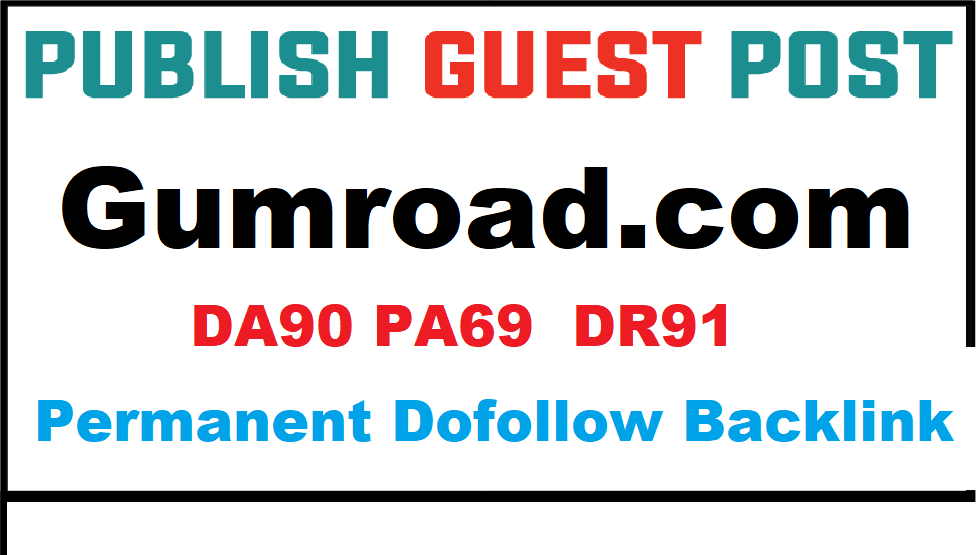 I can do create seo backlink on DR 90 dof0llow indexed premium website Gumroad- DR91