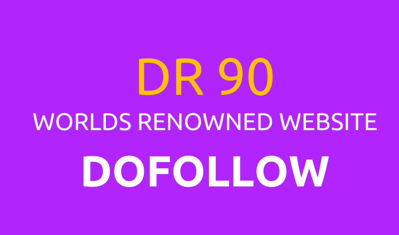 I can do create seo backlink on DR 90 dof0llow indexed premium website