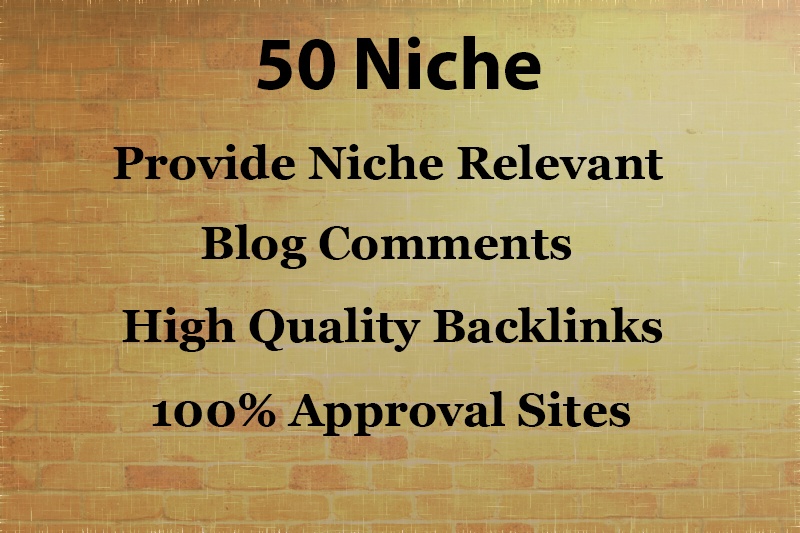 Provide 50 Niche Relevant Blog Comments