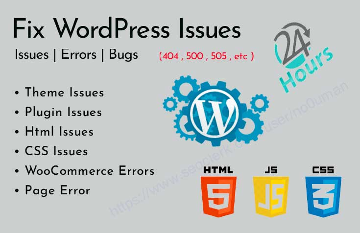 I will Fix all WordPress Issues and errors