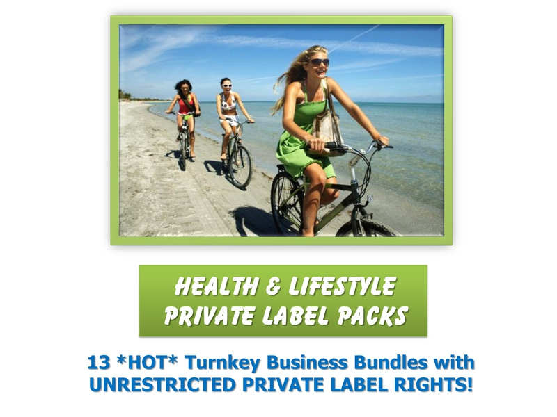 13 Health and Lifestyle PLR Packs