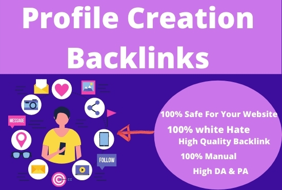 I Will Do 50+ powerful Profile Creation Backlinks For Your Website