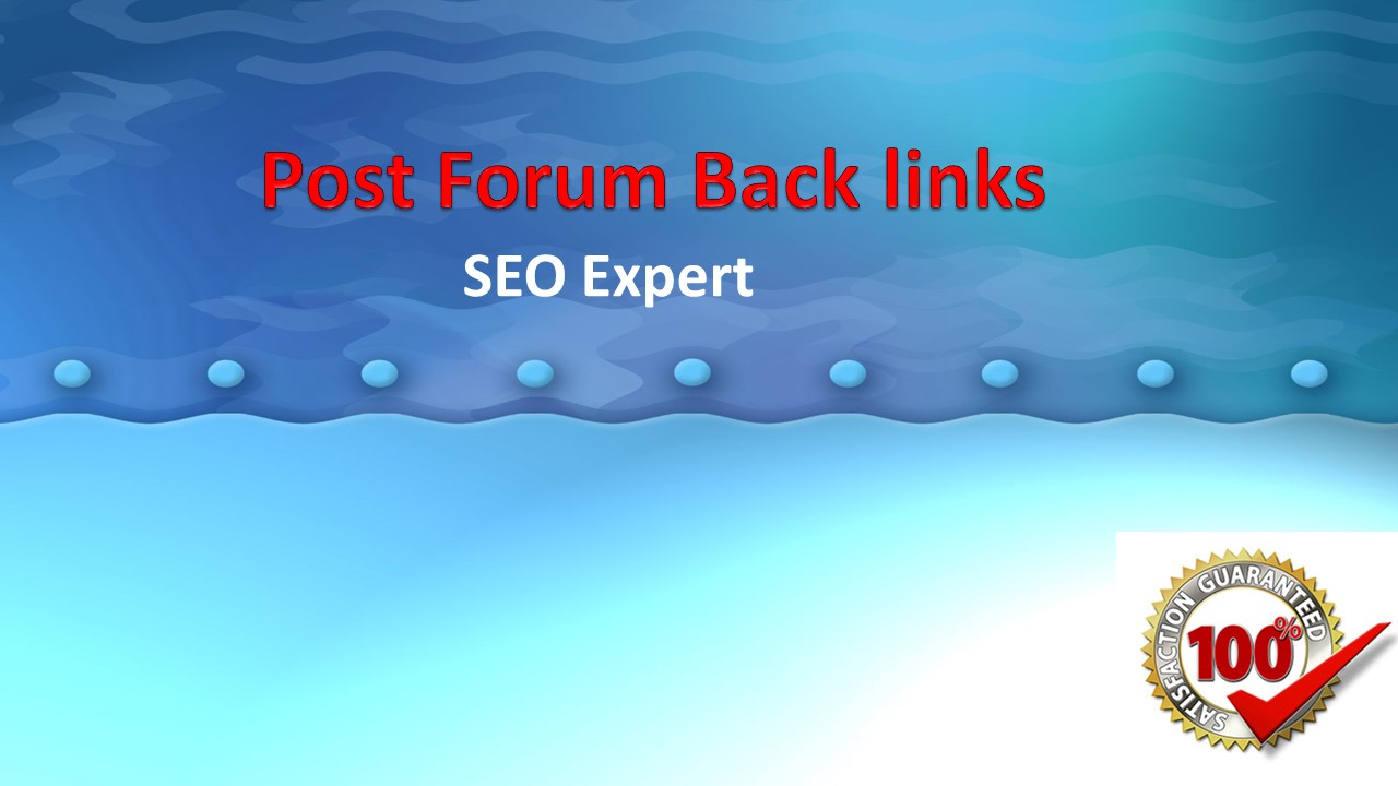 I can do 35 Post Forum Back Links for your website