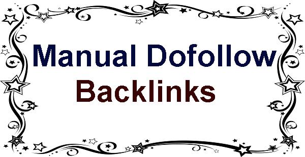 Manual Dofollow Backlinks - Higher RANKINGS