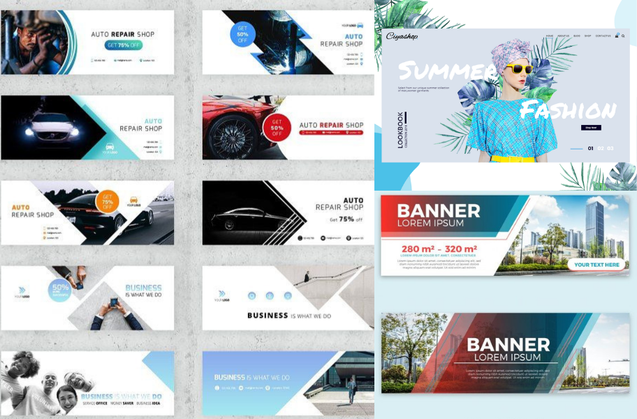 Design Amazing Professional Web Banner For You