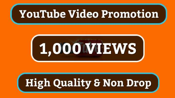 Get Instant High Quality & NON DROP YOUTUBE VIDEO PROMOTION With Lifetime Guarantee