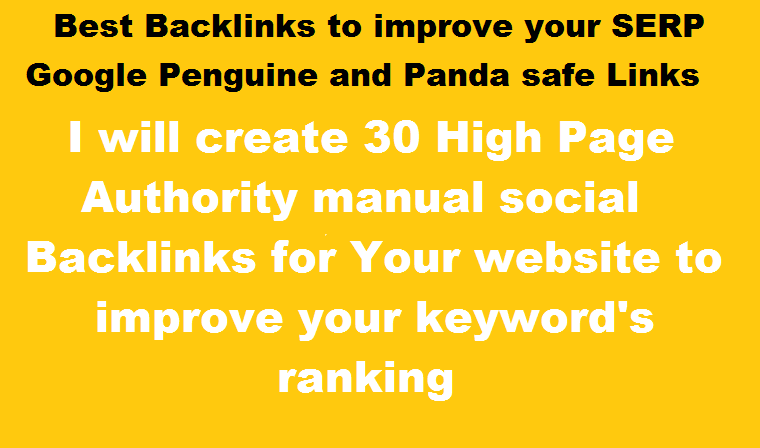 Create 30 High authority Profile Backlinks