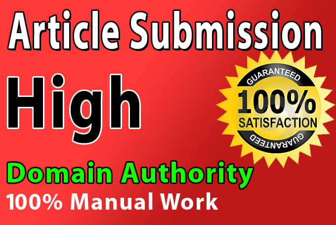 I will Build 25 Unique Domian Article Submission SEO Backlinks