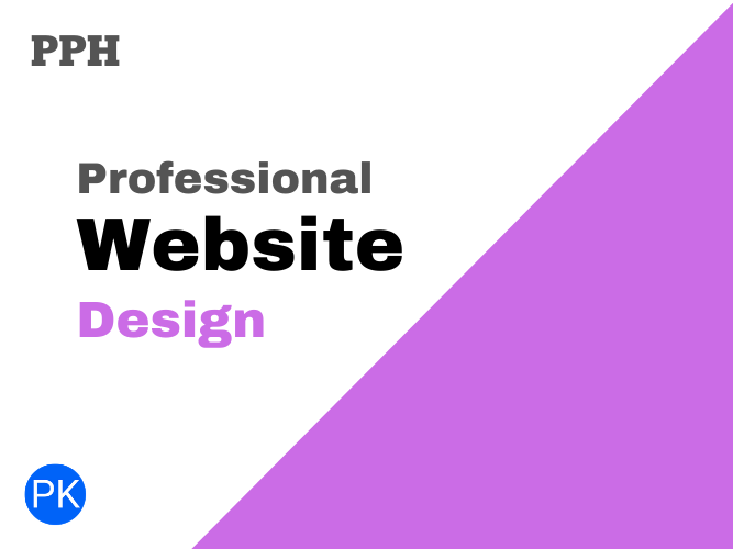 I will design a professional website with content