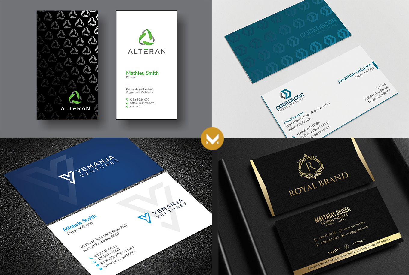 Design Amzing business card in 24 hr