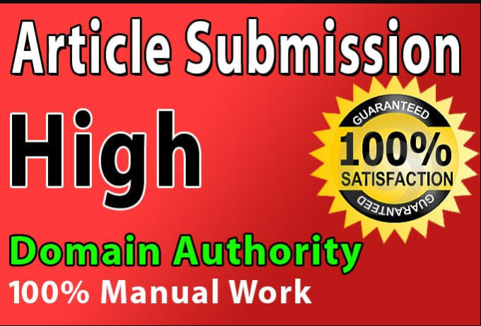 I will 30 article submission unique domain in SEO backlinks on High DA