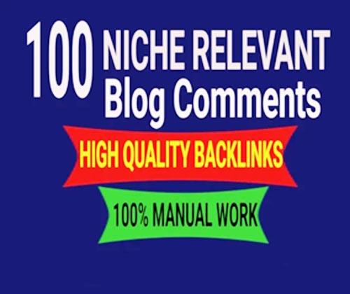 I will create 100 niche relevant blogcomments backlinks DA