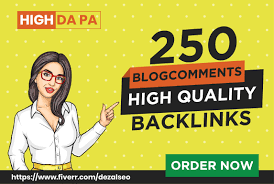 250 manual blog comment Dofollow Backlinks with DA 20plus