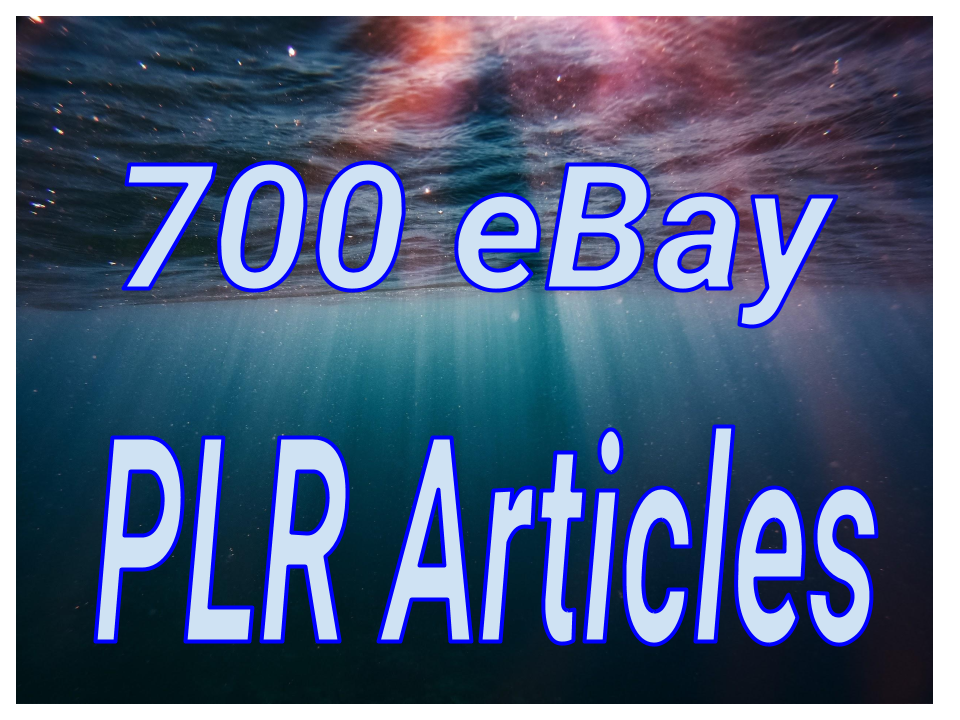 700 eBay Private Label Rights PLR Articles