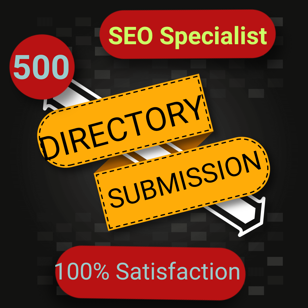 CREATE 500 DIRECORY SUBMISSION FOR YOUR SITE ON HIGH PR WEBSITE