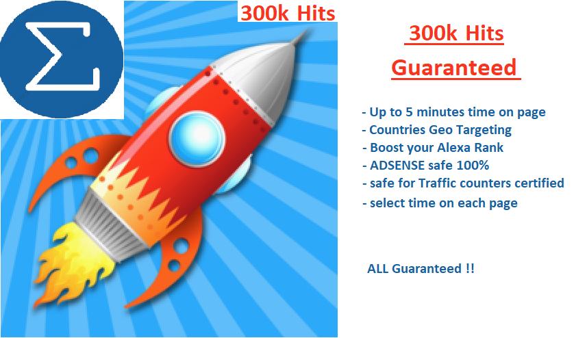 300k Hits Guaranteed - Explose your rank