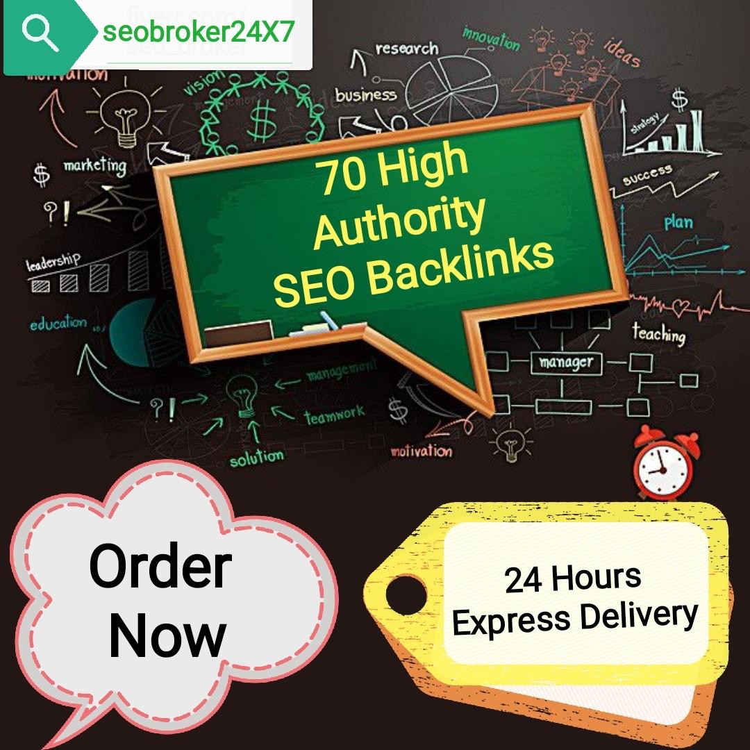 Do 70 High Authority SEO Backlinks,  Service for Google Ranking