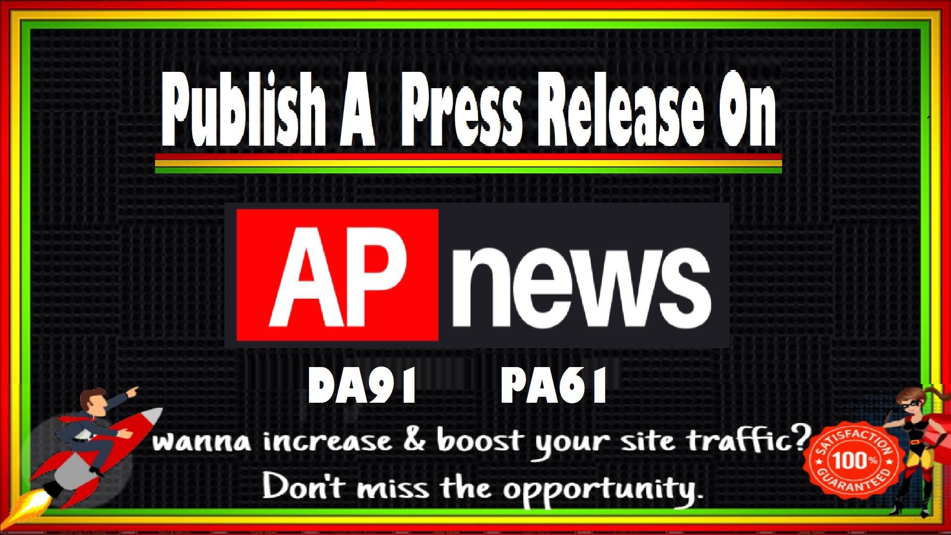Publish a press Release on Apnews. com DA91 PA61