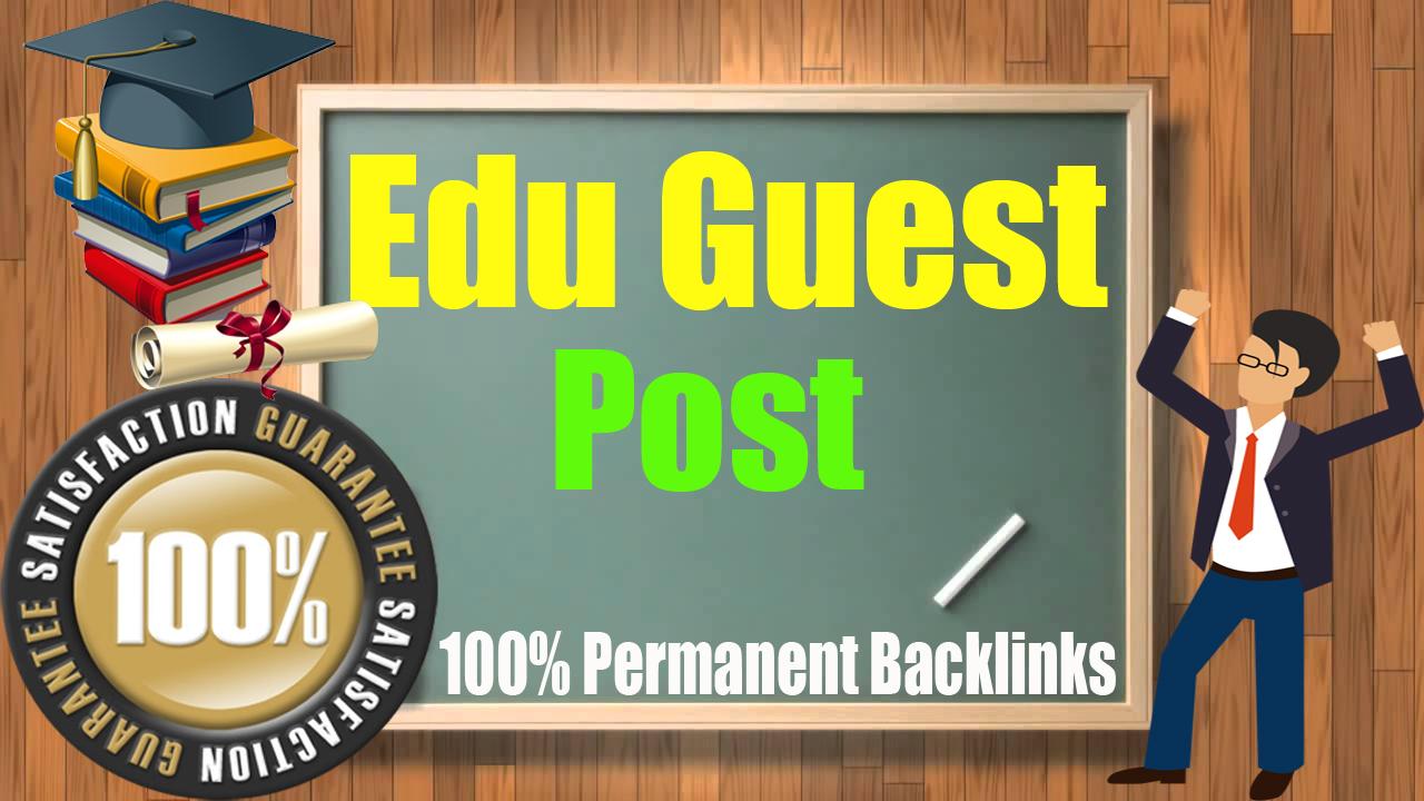 Guest Blog on 5 High Unbeatable Edu with SEO DF Backlinks