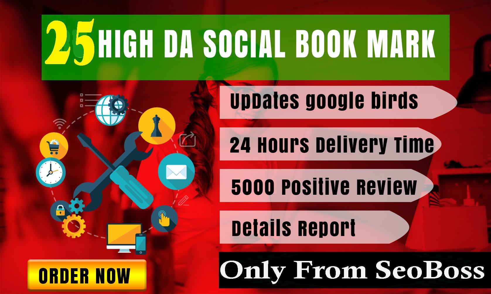 TOP 25 PR8 DOFOLLOW HIGH ALEXA RANK SOCIAL BOOKMARK BACKLINK- INSTANT APPROVE