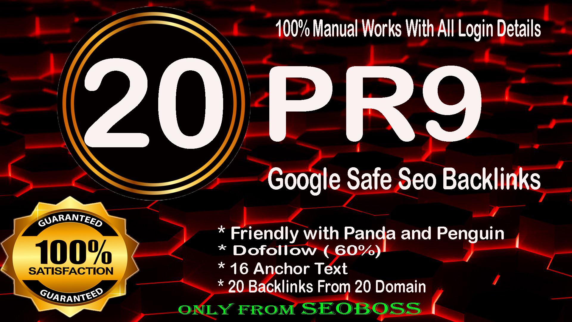 20 Pr9 - 80+ DA High Quality SEO Domain Authority Permanent Backlinks