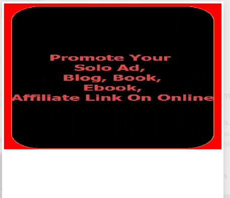 Promote Your Solo Ad,  Blog,  Book,  Ebook,  Affiliate Link Or Online