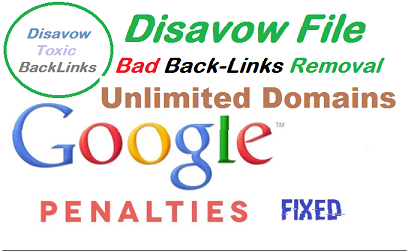 Link Detox Audit, Bad back links Removal, Disavow File, Penalty Recovery