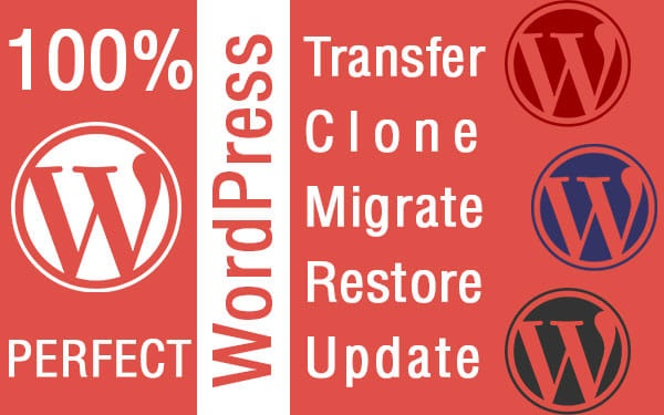WordPress website migration, transfer, clone from one host to another
