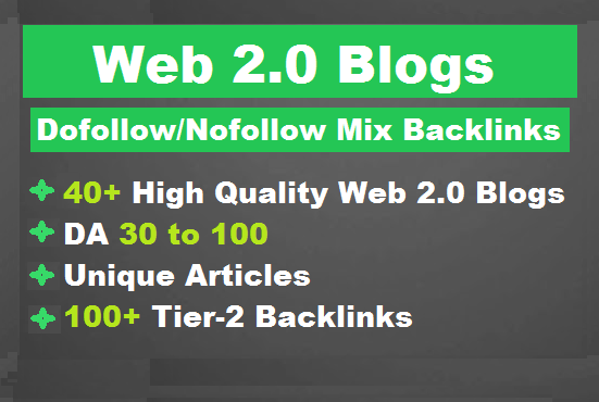 I'll build high authority super web 2 0 blogs backlinks for SEO