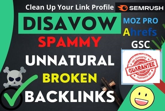 Disavow Toxic Bad Spammy Links Removal,  Disavow File,  Penalty Recovery,  Link Detox Audit