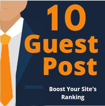 Do 10 Guest Post permanent high TF 80+ DA Sites