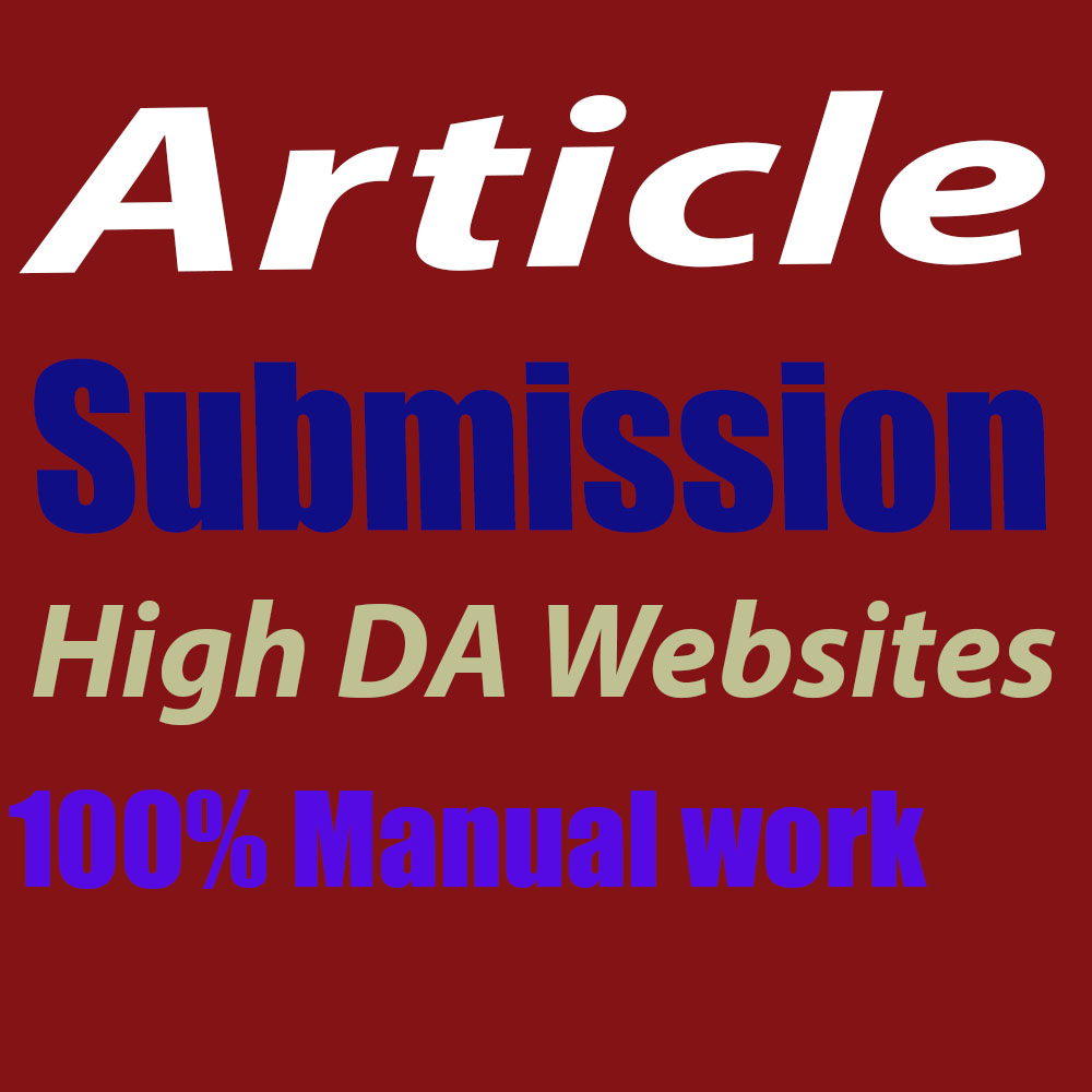 60 Article Submissions on High DA websites for SEO