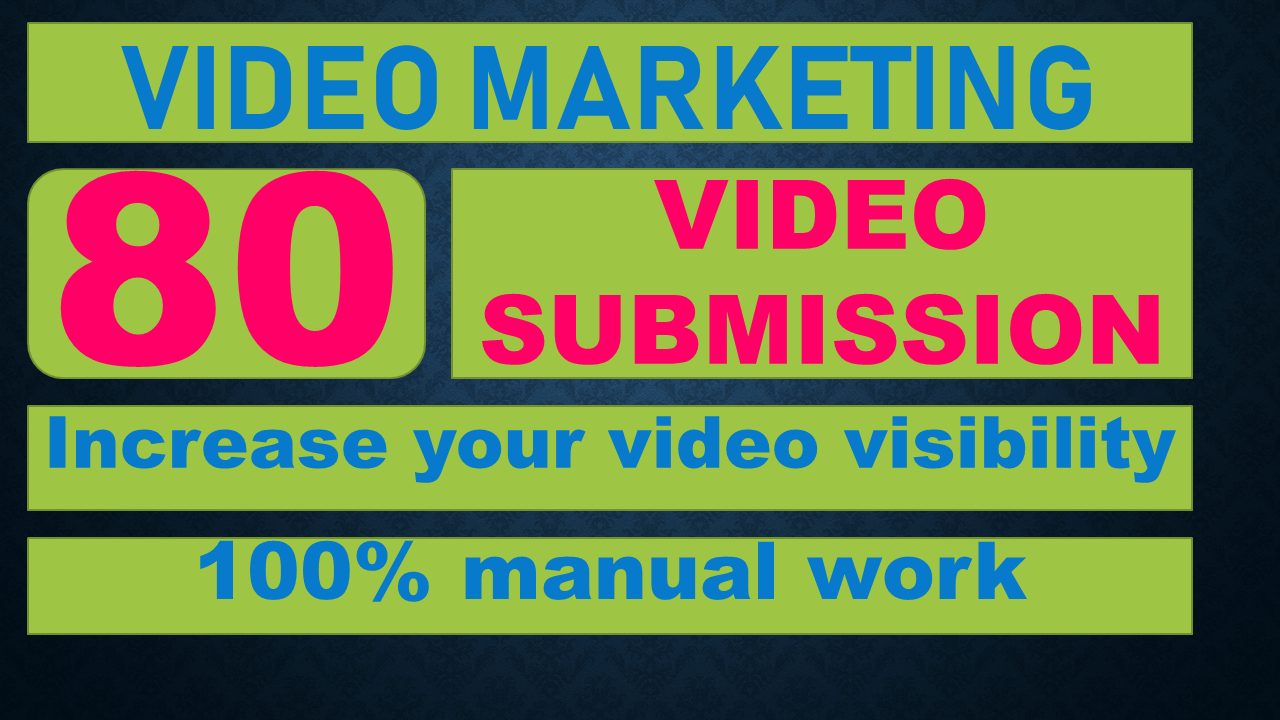 Upload, Submit Your Video On Top 80 Video Submission Sites