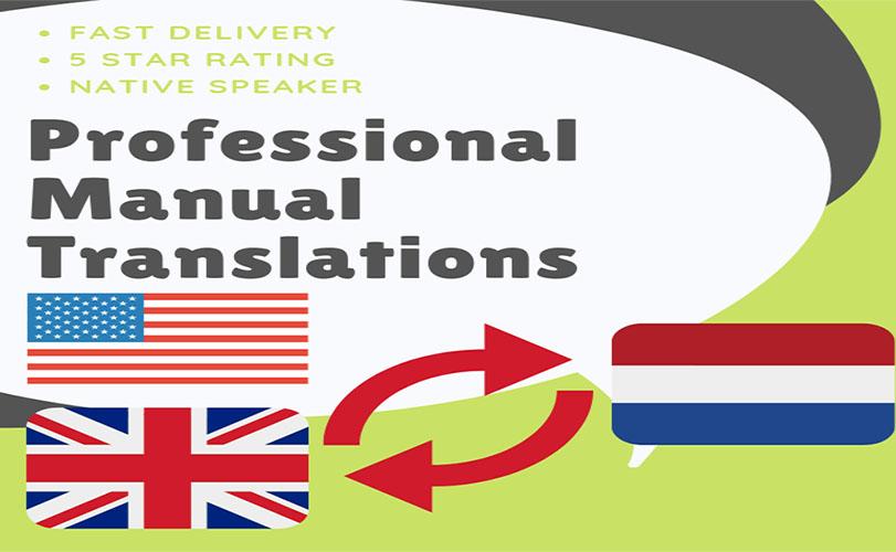 Manual Translation English and Dutch