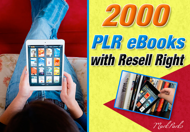 Give you 2000 PLR eBooks With Resell Rights